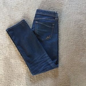 Express Skinny low rise blue Jeans